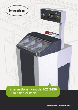 International – model ICZ 5430 Humidifier for heels