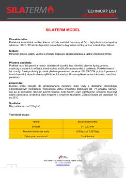 TECHNICKÝ LIST SILATERM MODEL SILATERM MODEL