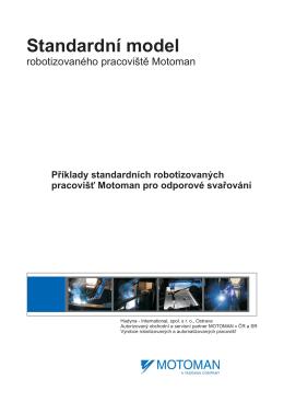 Standardní model pracoviště pro odporové svařování
