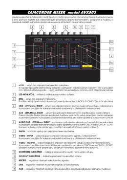 CAMCORDER MIXER model AVX503 - mk