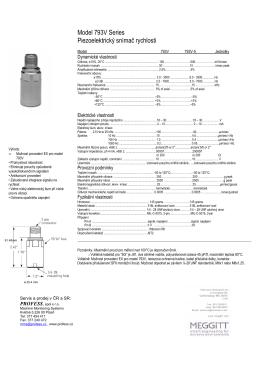 Model 793V Series Piezoelektrický snímač rychlosti