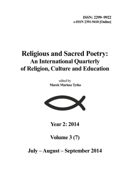 ISSN: 2299–9922 - Religious and Sacred Poetry