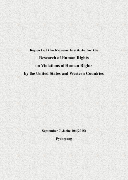 Report of the Korean Institute for the Research of Human Rights on