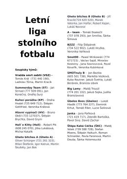 Letní liga stolního fotbalu