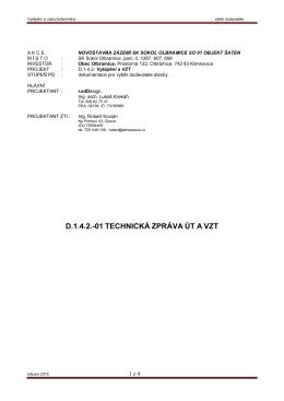 D1.4.2-01 technická zpráva – vytápění a vzduchotechnika