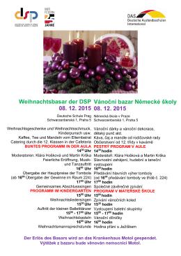 Weihnachtsbasar der DSP 08. 12. 2015 Vánoční bazar Německé