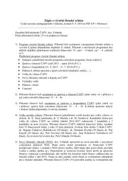 Program členské schůze ČAPV