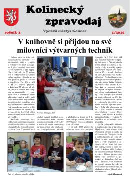 Kolinecký zpravodaj č. 1/2015