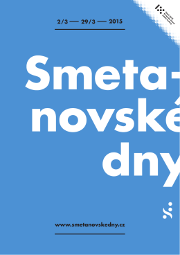 Programový leták festivalu Smetanovské dny 2015 (*, 145 kB)
