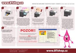 HOTOVO-Návod na doplnění tiskových kazet CANON CL