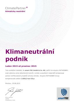 Klimaneutrální podnik - smart-TEC