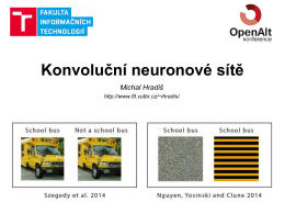 OpenAlt Konvoluční neuronové sítě