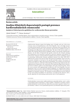 Analýza klinických doporučených postupů prevence