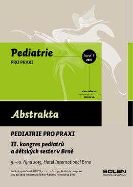 Abstrakta Pediatrie - Neurologie pro praxi