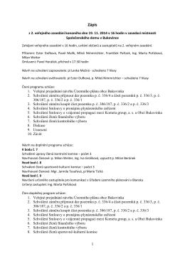 Zasedání dne 19. 11. 2014
