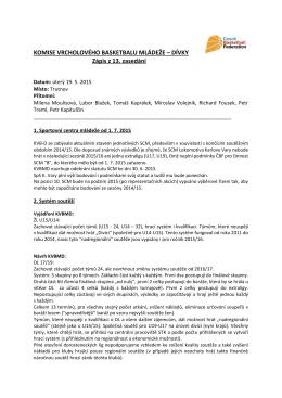 Zápis z jednání Komise vcholového basketbalu