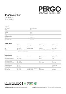 Technický list Pergo Total Design