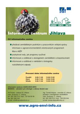 Informační centrum Jihlava www.agro−envi−info.cz