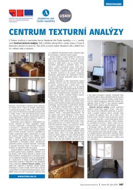 centrum texturní analýzy - Ústav struktury a mechaniky hornin AV