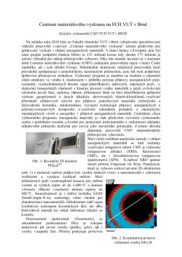 Centrum materiálového výzkumu na FCH VUT v Brně