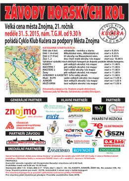 Plakát - Cyklo Klub Kučera Znojmo