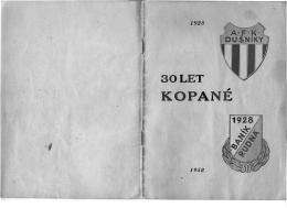 Ke stažení - brožura k 30. výročí fotbalu v Rudné