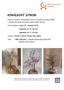 Korálkový strom - Rodinné centrum Litomyšl