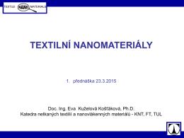 První přednáška (23.2.2015)