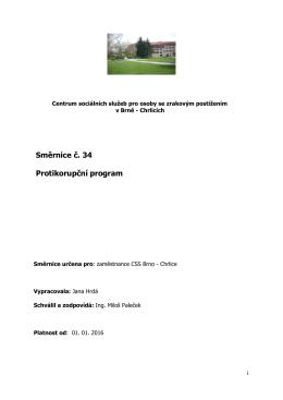 Směrnice č. 34 Protikorupční program