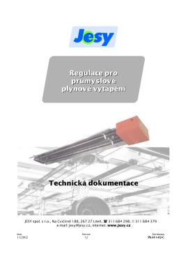 JESY - regulátory pro průmyslové plynové vytápění
