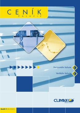 Ceník žaluzií - sešit 1 (8/2005)