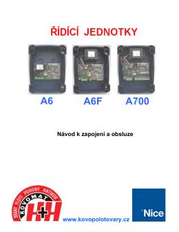 Nice A6, A6F, A700 - Kovopolotovary.cz