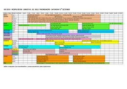 IGS 2015 - ROZPIS DÍLEN - SOBOTA 3. 10. 2015 / WORKSHOPS
