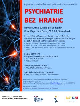 PSYCHIATRIE BEZ HRANIC - Psychiatrická léčebna Šternberk