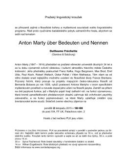 Anton Marty über Bedeuten und Nennen