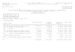 Výkaz pro hodnocení plnění rozpočtu 2014