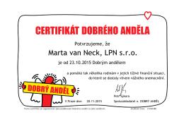 Marta van Neck, LPN s.r.o.