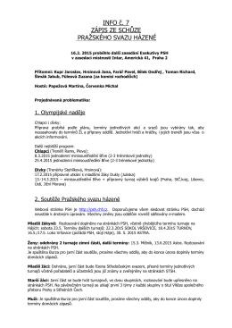 Info PSH ze dne 16.02.2015