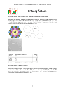 Katalog příslušenství pro patchwork.