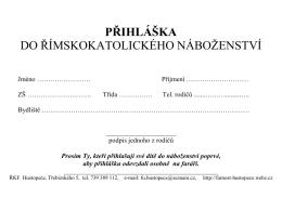 Pøihláıka do náboženství - Hustopeèe