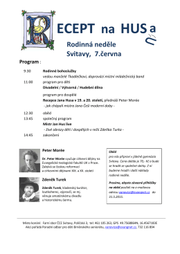 Program - Sbor ČCE v Miroslavi