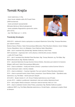 Tomáš Krajča - Český badmintonový svaz