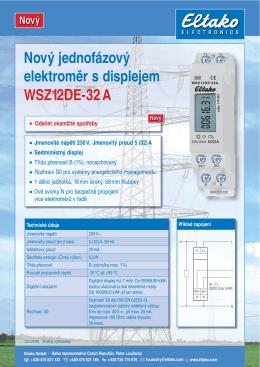 Nový jednofázový elektroměr s displejem