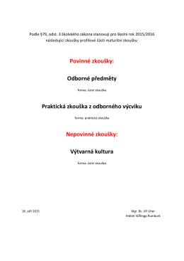 Profilové zkoušky MZ