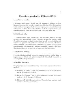 Zkouška z predmetu KMA/AMMS