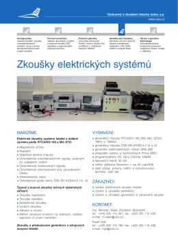 Zkoušky elektrických systémů - Výzkumný a zkušební letecký ústav