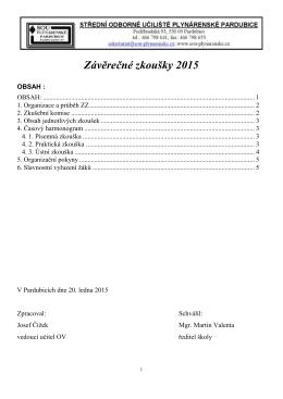 Závěrečné zkoušky 2015