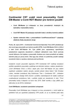 Continental CST uvádí nové pneumatiky Conti