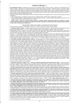 Pokyny k Příloze č. 1 za zdaňovací období (kalendářní rok) 2015