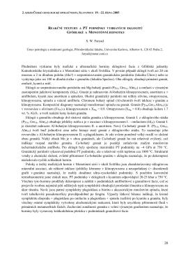 Faryad S.W.: Reakční textury a PT podmínky vybraných eklogitů